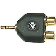 "D'Addario Planet Waves 1/8"" Stereo Male to Twin RCA Female Adapter"