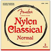 Fender 100 Clear Nylon Tie End Guitar Strings, 3-Pack