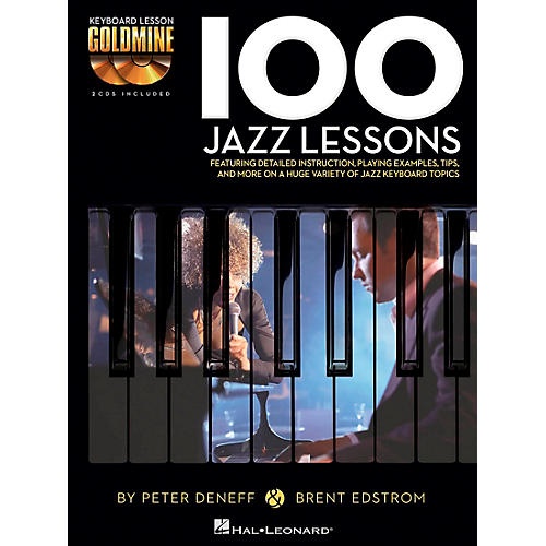Hal Leonard 100 Jazz Lessons - Keyboard Lesson Goldmine Series Book/2-CD Pack-thumbnail
