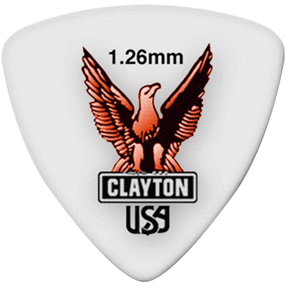 Clayton Acetal Rounded Triangle Guitar Picks 1.26MM 1 Dozen