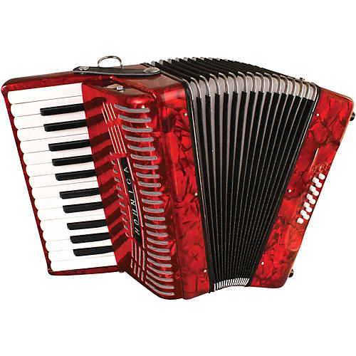 Red 12 Bass Entry Level Piano Accordion Wwbw