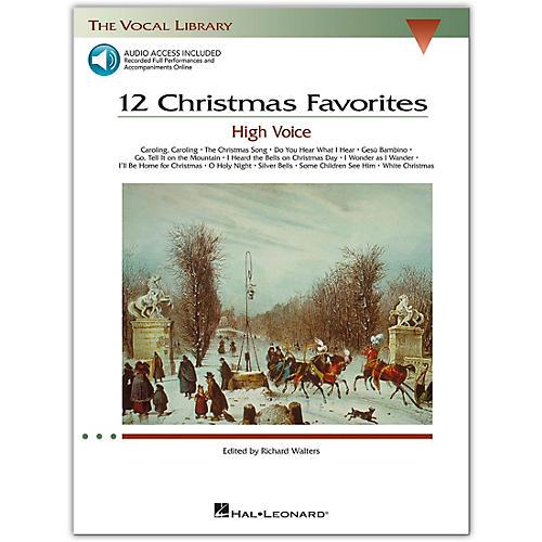 Hal Leonard 12 Christmas Favorites for High Voice Book/CD