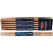 Stagg 12-PAIR OAK DRUM STICKS Wood Tip