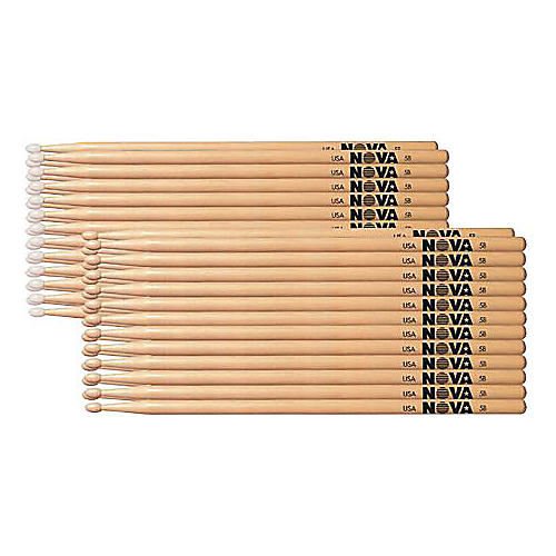 Nova 12-Pair Hickory Drumsticks-thumbnail