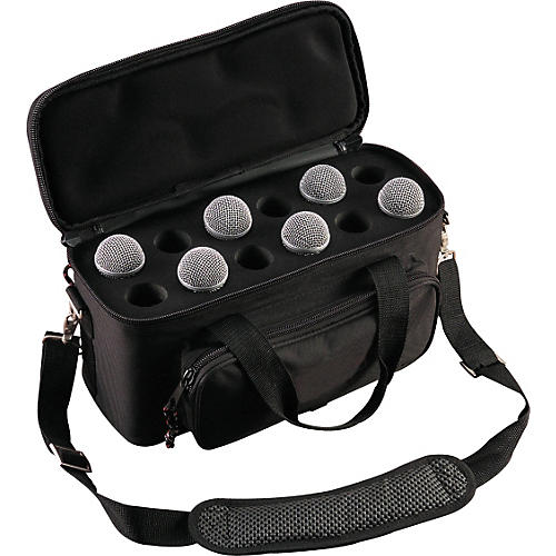Musician's Gear 12-Space Microphone Bag Black-thumbnail