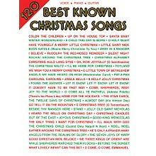 Alfred 120 Best Known Christmas Songs PVG Book