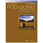Hal Leonard 15 Easy Folksong Arrangements for Low Voice Book/CD