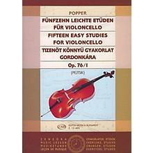 Editio Musica Budapest 15 Easy Studies, Op. 76/I EMB Series by Dávid Popper