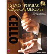 Cherry Lane 15 Most Popular Classical Melodies for Cello Book/CD