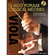 Cherry Lane 15 Most Popular Classical Melodies for Viola Book/CD