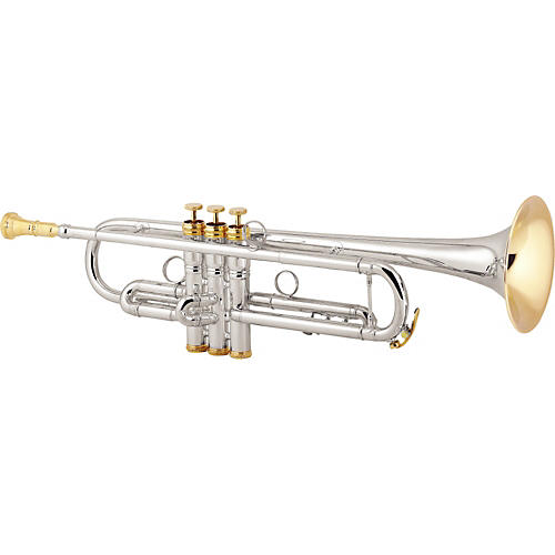 Conn 1B Vintage One Series Professional Bb Trumpet Silver Yellow Brass Bell Gold Trim-thumbnail