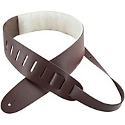 "Perri's 2.5"" Leather Guitar Strap with Sheepskin Pad"