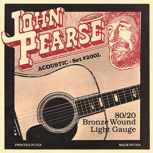 John Pearse 200L 80/20 Bronze Acoustic Guitar Strings-thumbnail