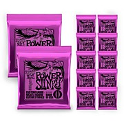 Ernie Ball 2220 Power Slinky Electric Guitar Strings - Buy 10, Get 2 Free