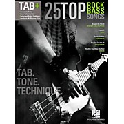 Hal Leonard 25 Top Rock Bass Songs - Tab. Tone. & Technique. (Tab+)