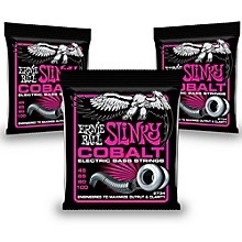 Ernie Ball 2734 Cobalt Super Slinky Electric Bass Strings 3-Pack