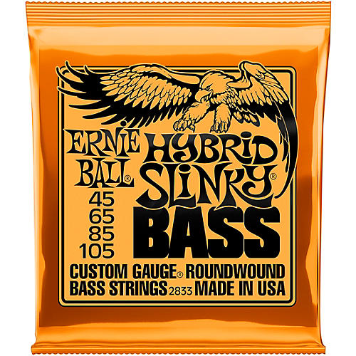 Ernie Ball 2833 Hybrid Slinky Round Wound Bass Guitar Strings