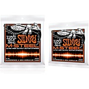 Ernie Ball 2922 M-Steel Hybrid Slinky Electric Guitar Strings 2-Pack