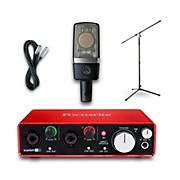 Focusrite 2i2 Recording Bundle with AKG C214 Mic