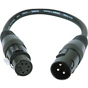 American DJ 3-Pin Male XLR to 5-Pin Female XLR Turnaround