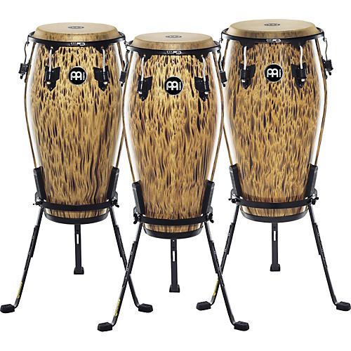 Meinl 30th Anniversary Edition Marathon Classic Series Conga with Steely II Stand Leopard Burl 12.5-thumbnail