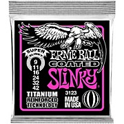 Ernie Ball 3123 Coated Super Slinky Electric Guitar Strings