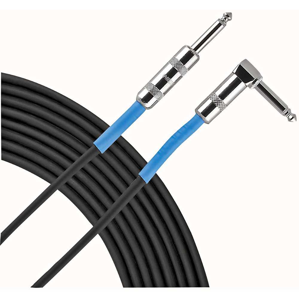 """Live Wire Advantage Series 1/4"""" Angled - Straight Instrument Cable 10 Foot"""