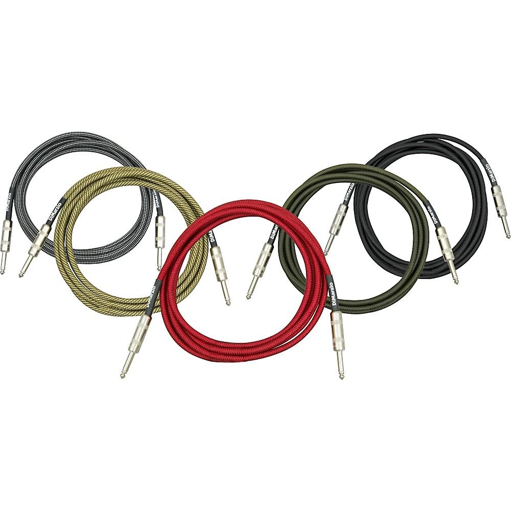 DiMarzio Instrument Cable Black & Silver 6 Foot
