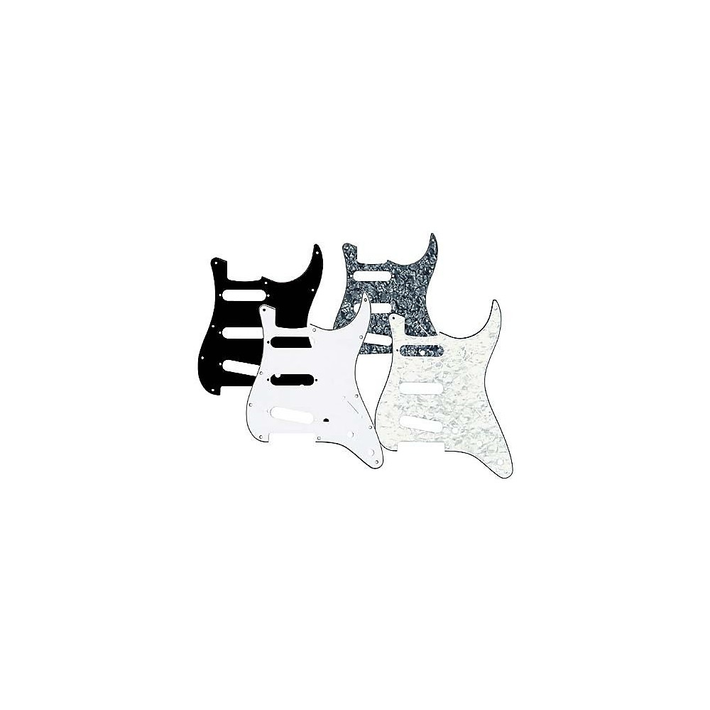 Musician's Gear 3 Single-Coil Pickguard Black Pearloid