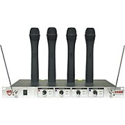 Nady 401X Quad WHT Handheld VHF Wireless Microphone System