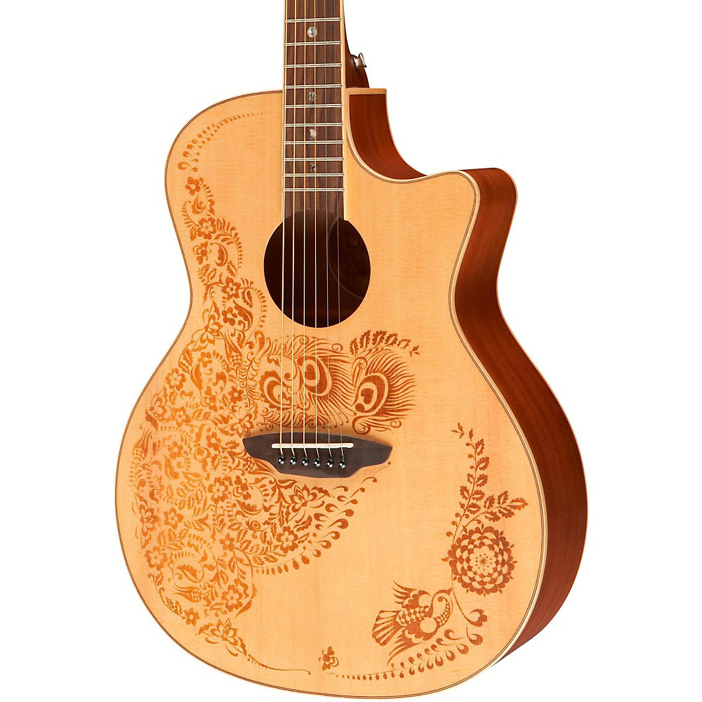 luna guitars henna oasis spruce series ii acoustic electric guitar 819998023348 ebay. Black Bedroom Furniture Sets. Home Design Ideas