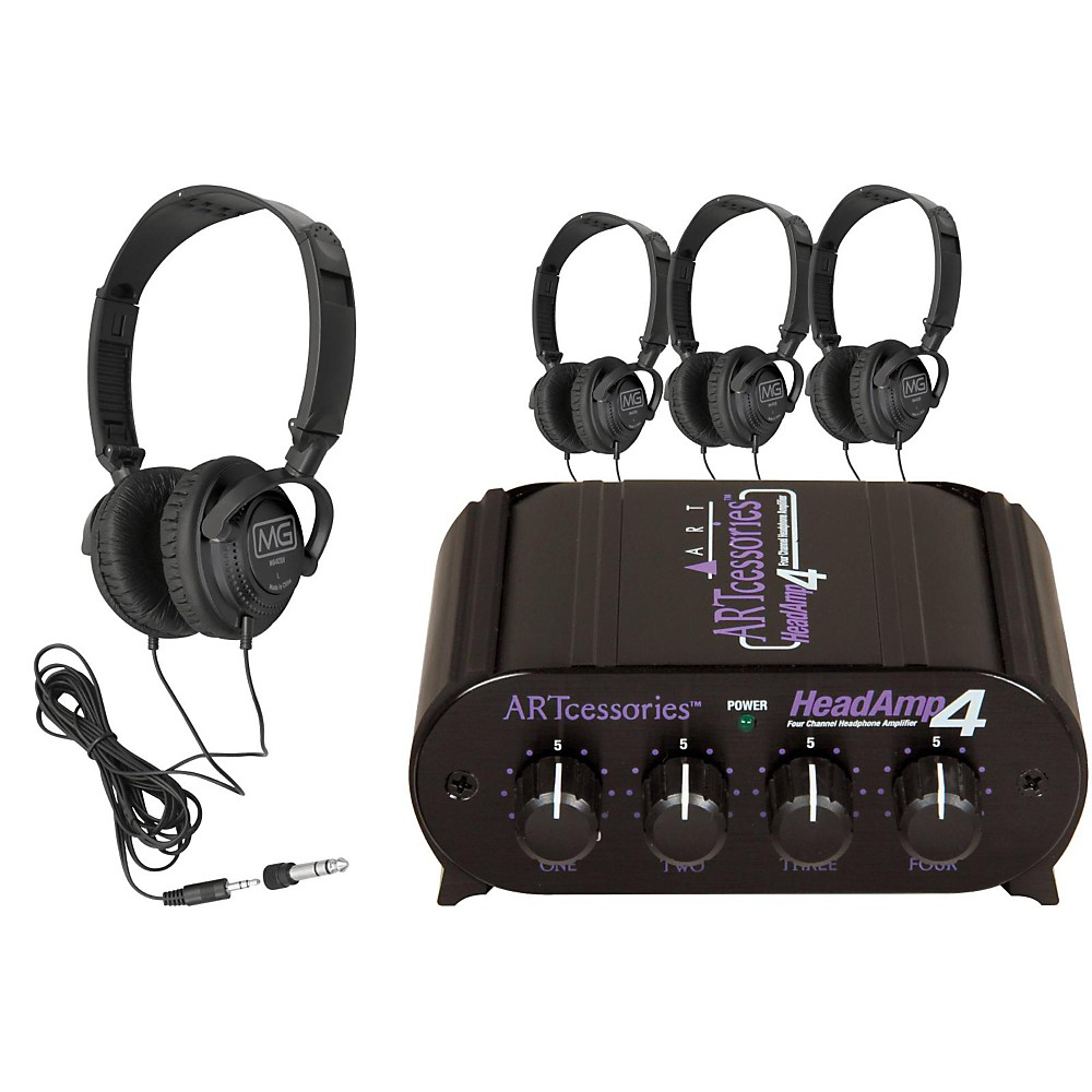 ART HeadAmp 4 Headphone Amp with 4 Free Headphones