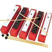 Rhythm Band 5 Note Chromatic Wooden Bass Bell Set
