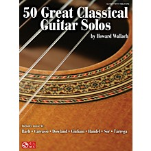 Cherry Lane 50 Great Classical Guitar Solos Guitar Series Softcover