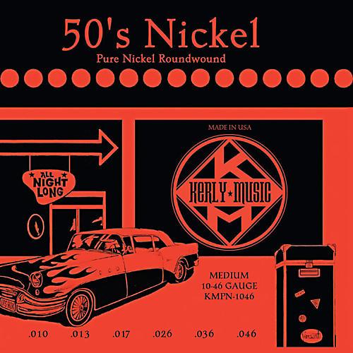 Kerly Music 50'S Nickel Pure Nickel Medium Electric Guitar Strings-thumbnail