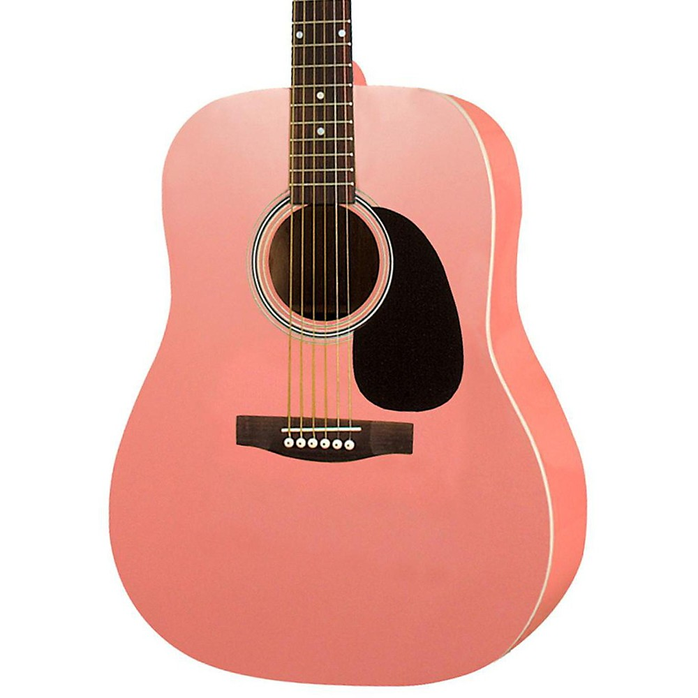 Rogue RA-100D Dreadnought Acoustic Guitar Pink