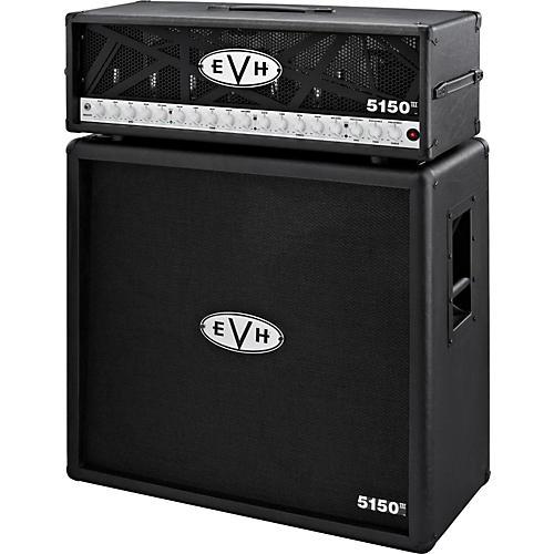 EVH 5150 III 100W Guitar Tube Head Black with 5150 III 412 Guitar Cab Black-thumbnail