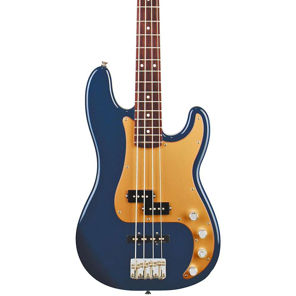 FENDER Deluxe P Bass Special 4-String Bass Navy Blue Metallic Rosewood Fretboard