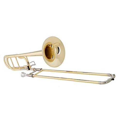 Getzen 547 Capri Series F Attachment Trombone Lacquer Yellow Brass Bell-thumbnail