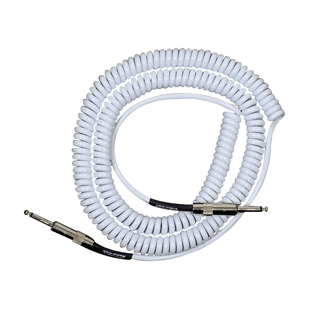 Lava Retro Coil 20 Foot Instrument Cable Straight-Straight Assorted Colors White