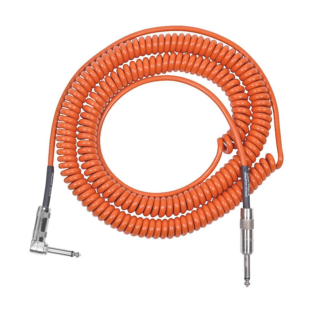 Lava Retro Coil 20 Foot Instrument Cable Straight to Right Angle Seam Foam Green