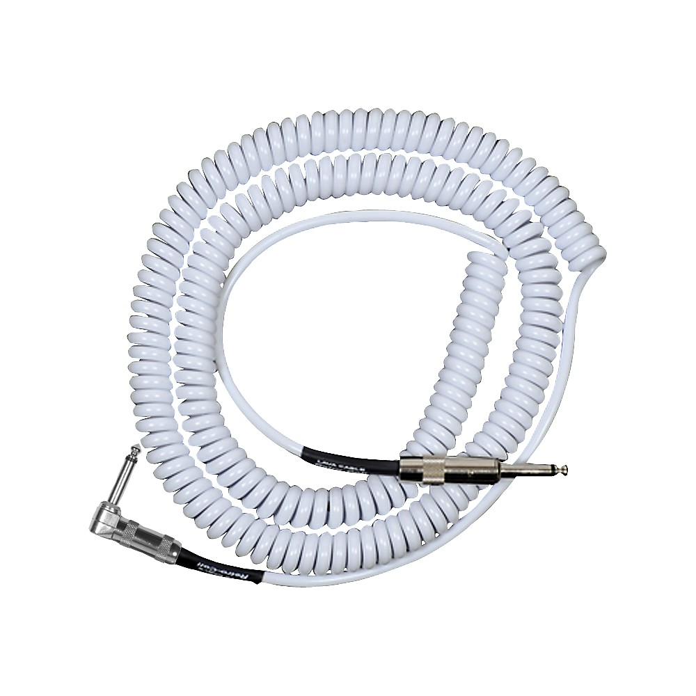 Lava Retro Coil 20 Foot Instrument Cable Straight-Right Angle Assorted Colors White
