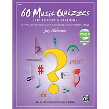 Alfred 60 Music Quizzes for Theory and Reading Book & Data CD