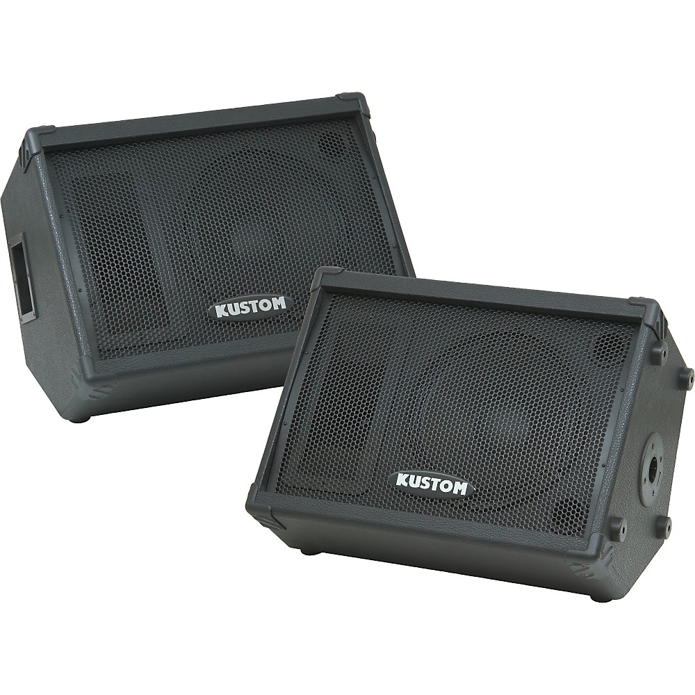 Kustom KPC12M 12IN Monitor Speaker Cab with Horn Pair