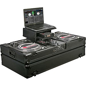 Odyssey ATA Black Label Coffin for Two Turntables and Mixer
