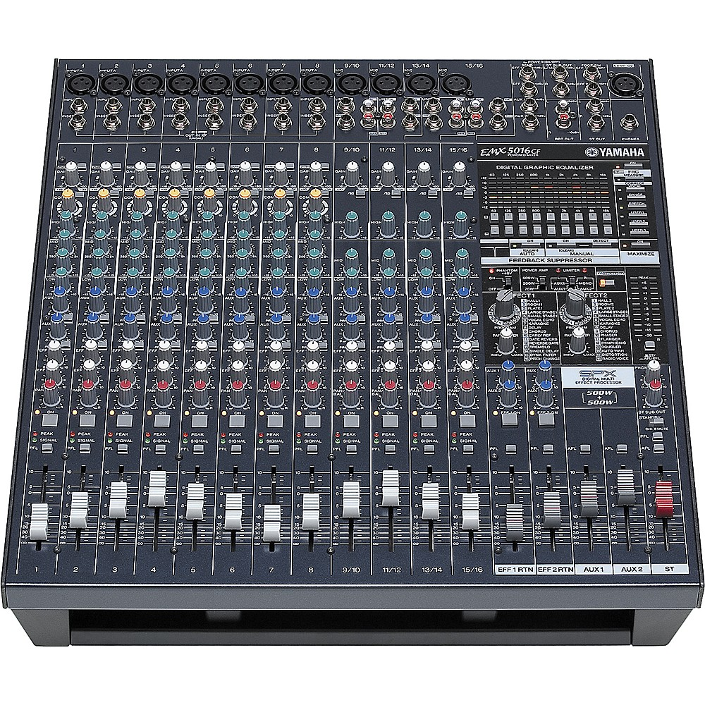 Yamaha emx5016cf 16input powered mixer with dual 500 watt for Yamaha emx 312sc