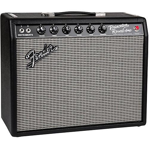 Fender 65 Princeton Reverb 15W 1x10 Tube Guitar Combo Amp Black-thumbnail