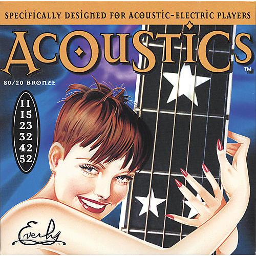 Everly 7011 Acoustics 80/20 Light Acoustic-Electric Guitar Strings-thumbnail