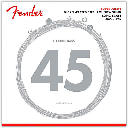 Fender 7250-5M Super Bass Nickel-Plated Steel Long Scale 5-String Bass Strings - Medium-thumbnail