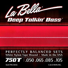 LaBella 750T White Nylon Tape Wound Light Electric Bass Strings